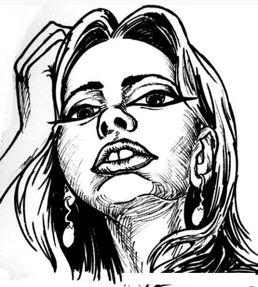 Dibujo De Rostro De Mujer Chata Para Pintar Y Colorear  COLOREAR