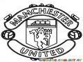 Colorear logo del Manchester United