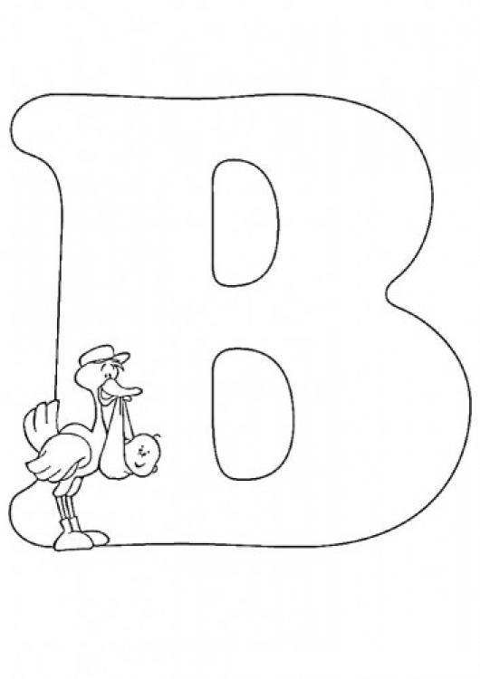 Letra B Dibujo De La Letra Be Para Pintar Y Colorear La B De Bebe