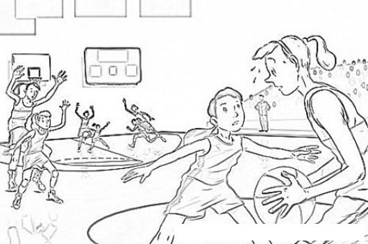 Baloncesto Femenino Dibujo De Mujeres Basquetbolistas Para Pintar ...