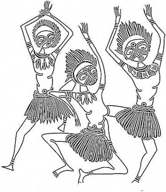 Baile Africano Dibujo De Mujeres Africanas Bailando Para Pintar Y ...