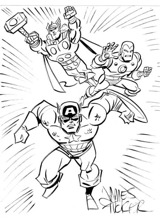 Avengers 2012 Dibujo De Los Vengadores Super Heroes Para Pintar Y