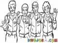 Dibujo De 4 Amigos Abrazados Para Pintar Y Colorear
