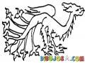 Dibujo De Dragon De 10 Patas Para Pintar Y Colorear