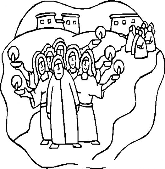 10 Virgenes Dibujo Cristiano De La Parabola De Las 10