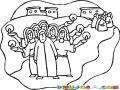10 Virgenes Dibujo Cristiano De La Parabola De Las 10 Virgenes De Mateo 25 Para Pintar Y Colorear