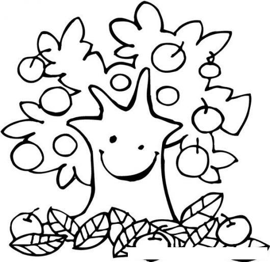 Arbol De Manzanas Para Pintar Y Colorear Colorear Dibujos Varios