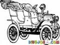 Carro Clasico Convertible Para Pintar Y Colorear