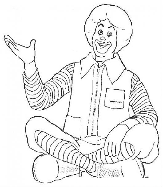 Mcdonalds Coloring Pages