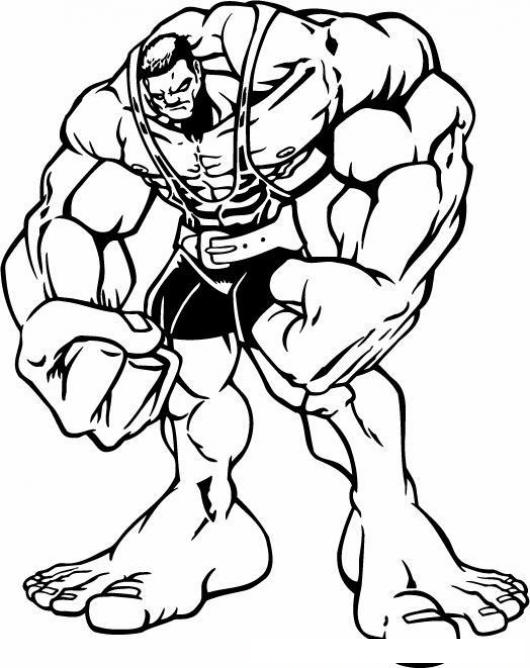 Hulk Dibujos Para Colorear