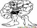 El Mas Musculado De Hulk Para Pintar Y Colorear