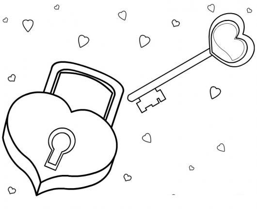 El Candado Del Amor Dibujo De Candado Y Llave Con Forma De Corazon