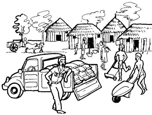 Dibujo De Chozas Africanas Para Pintar Y Colorer Comunidad En Africa ...