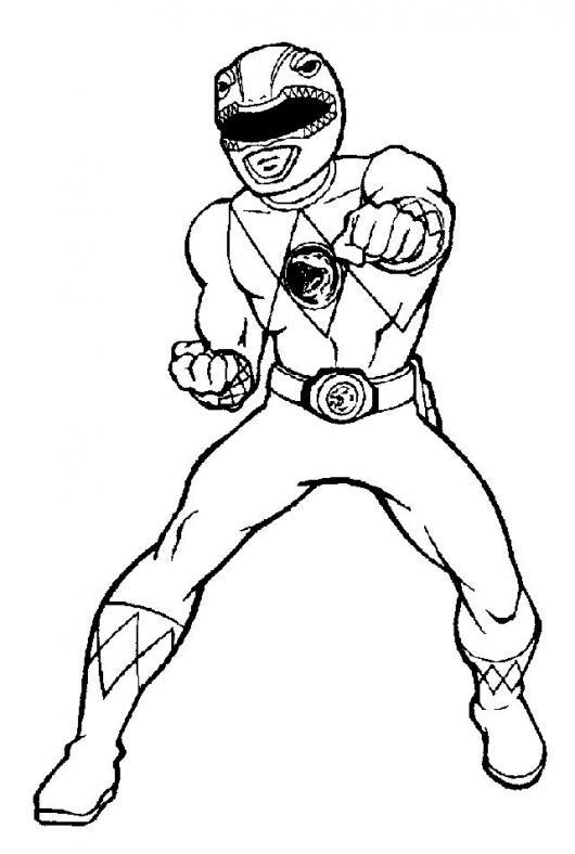 Power Ranger Rojo Para Pintar Y Colorear  COLOREAR DIBUJOS VARIOS