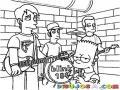 Blink184 Dibujo De Rockeros Blink 184 Con Bart Simpson Para Pintar Y Colorear Banda De Rock