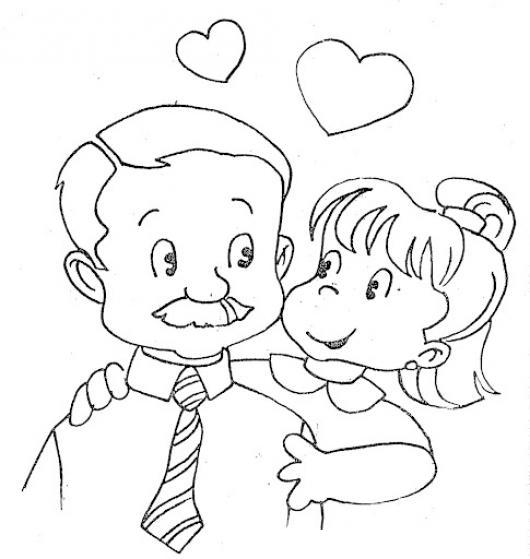 Diadelpadre 17 De Junio Dibujo De Hija Dandole Un Abrazo De