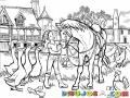 Dibujo De Nina Granjerita Acariciando A Su Caballo Para Pintar Y Colorear