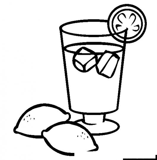 iced teas coloring pages - photo#7