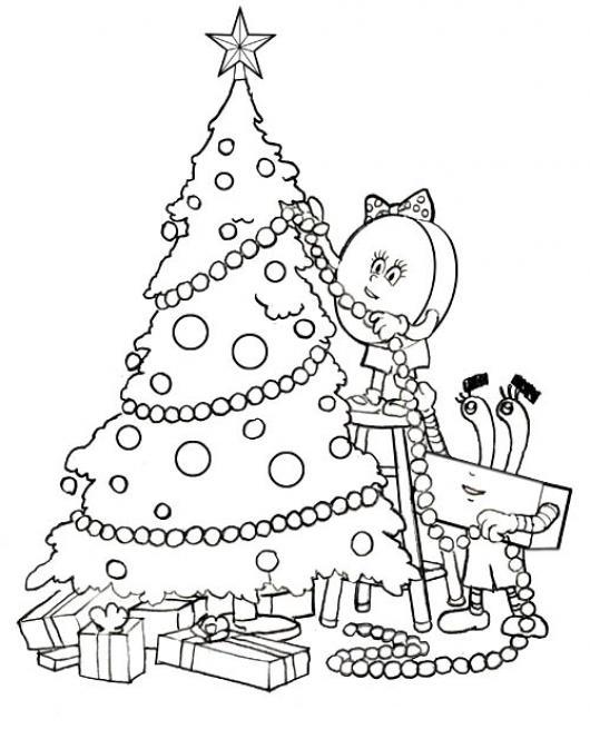 decoracion arbol navidad dibujo de dulces Decorando El Arbol De ...
