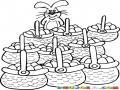Conejodepascuas Dibujo De Conejo Pascuero Con Muchas Canastas Llenas De Huevos De Pascuas Para Pintar Y Colorear Huevos De Carnaval