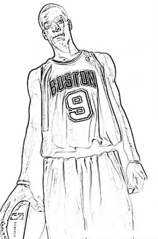 Rajonrondo.com Rajon Rondo Boston 9 NBA Rondorajon Coloring Page ...