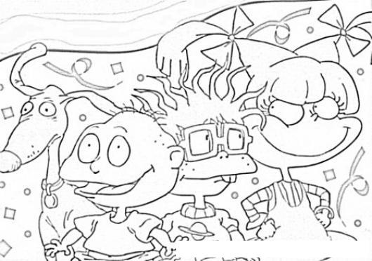 Dibujo De Los Rugrats Para Pintar Y Colorear A Los Personajes De Los ...