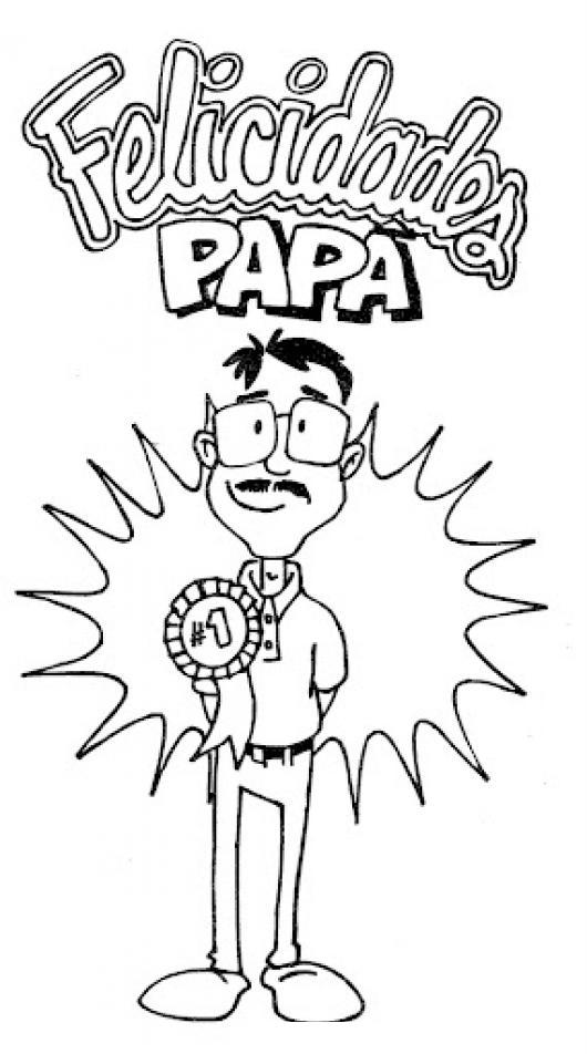 17 De Junio Dibujo Gratis Del Dia Del Padre Para Imprimir Pintar Y