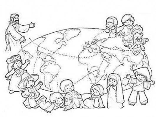Dibujos Colorear Niños Del Mundo y Los Ninos Del Mundo Para