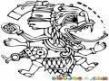 Dibujomaya Para Pintar Y Colorear Un Dibujo Maya