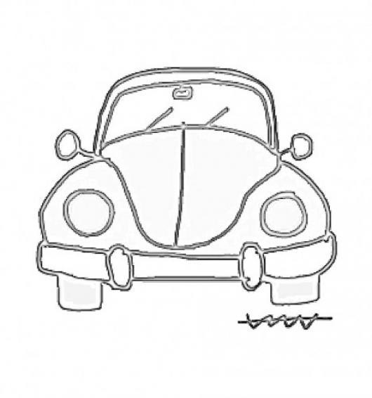 Dibujo De Escarabajo Volkswagen Para Pintar Y Colorear Cuquita ...