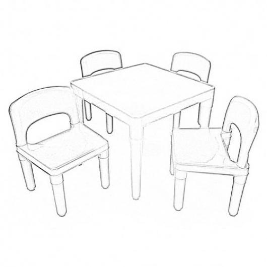 Mesa y sillas de ninos para pintar y colorear 4 sillitas y - Mesas y sillas para ninos ...