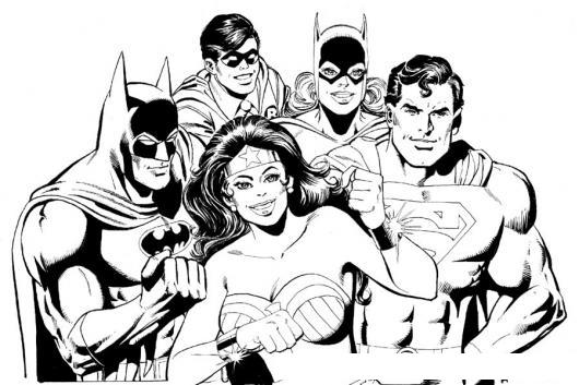 Dibujos De La Mujer Maravilla Para Colorear E Imprimir: Dibujo De Los Super Heroes Para Pintar Y Colorear A Batman