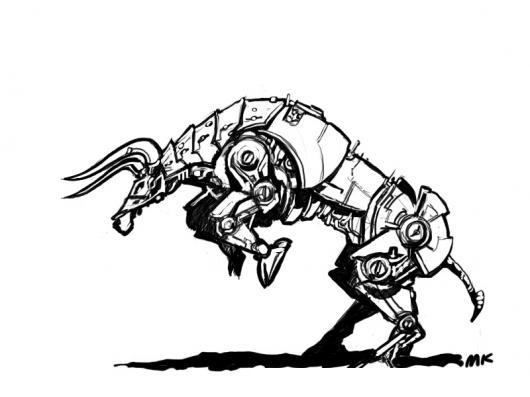 Toro Transformer Dibujo De Toro Robot Para Pintar Y Colorear