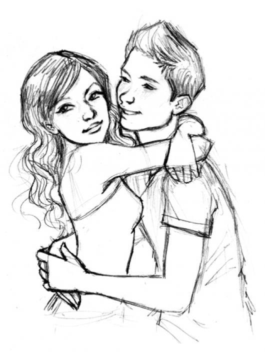 mi primer amor dibujo de novios adolescentes para pintar y colorear noviecitos jovensitos