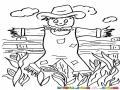 Dibujo De Espantapajaros Para Pintar Y Colorear Espanta Pajaros Vaquero