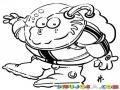 Dibujo De Moustruo Astronauta Para Pintar Y Colorear