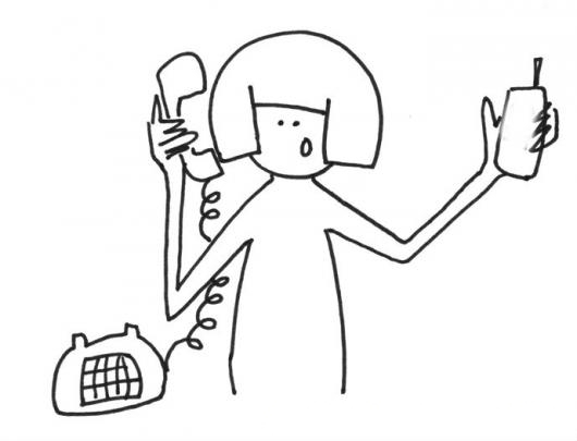 Telefono De Casa Y Telefono Celular Para Pintar Y Colorear