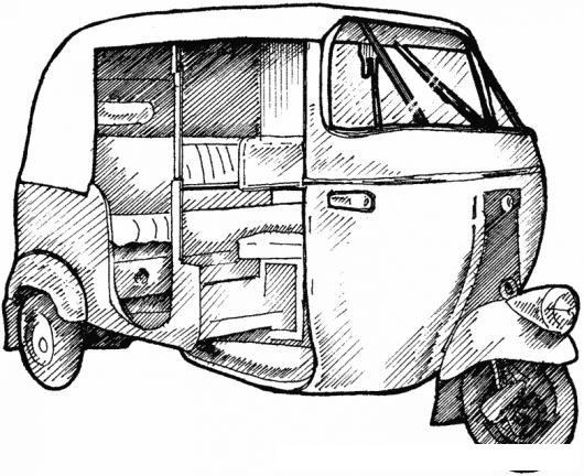Dibujo De Tuc Tuc Para Pintar Y Colorear Moto Taxi Torito Tuctuc
