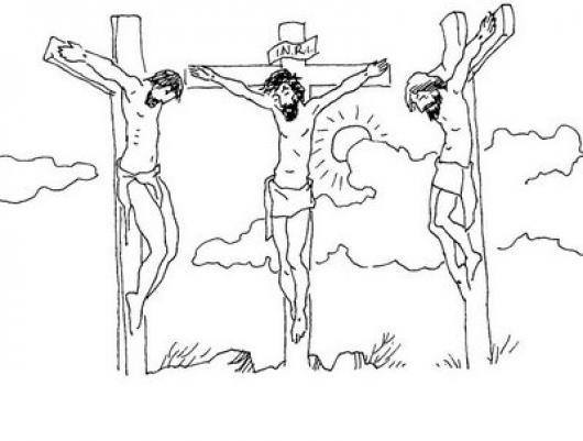 I.N.R.I. Iesus Nazarenus Rex Iudaeorum Dibujo De La Crucifixion De ...