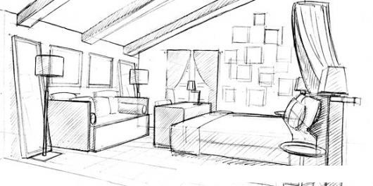 Habitacion matrimonial dibujo de un cuarto con cama y sofa for Cuarto para colorear
