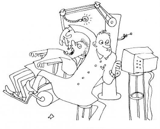 Equipo dental dibujo de dentista sin ayudante operando a for Presupuesto para pintar