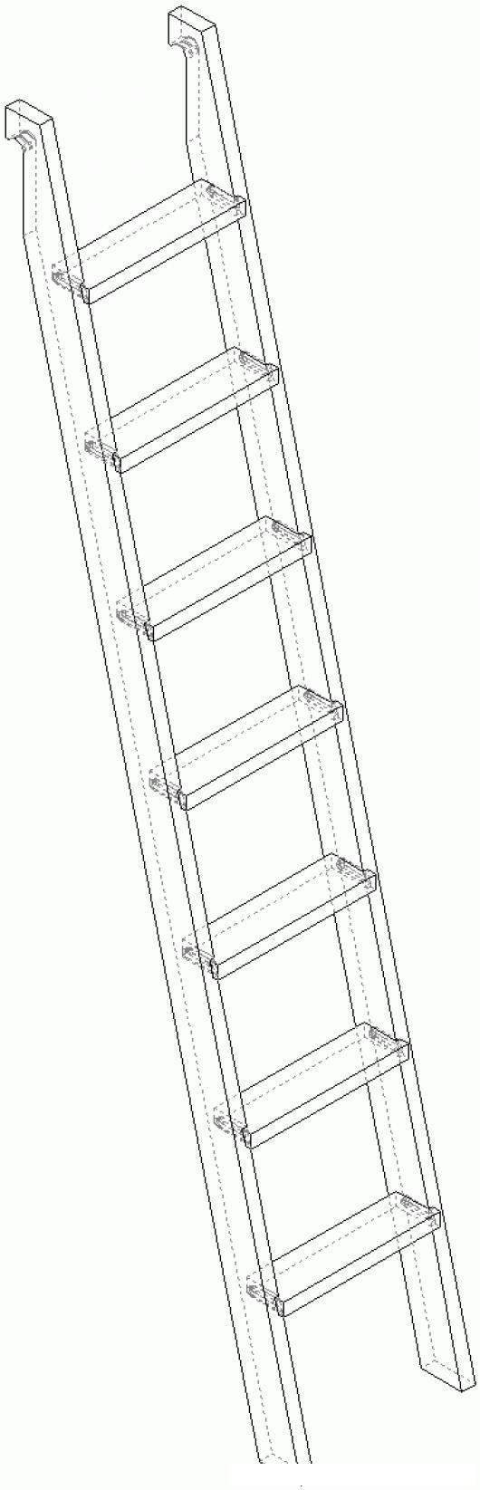 Dibujo de escalera de madera para pintar y colorear - Escaleras para pintar ...