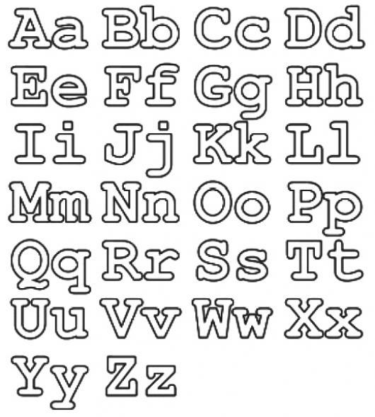 Colorear las letras del alfabeto en mayusculas y minusculas ...