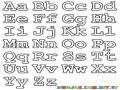 Colorear las letras del alfabeto en mayusculas y minusculas