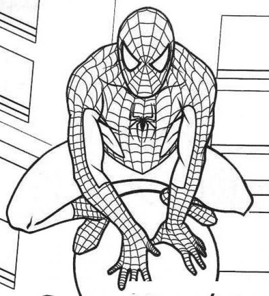 Spiderman Dibujo De Hombre Arana Sobre Un Farol Para Pintar