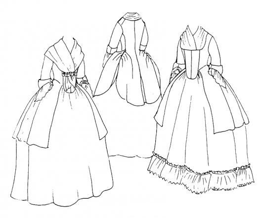 Vestidos Medievales Para Pintar Y Colorear Vestidos Antiguos