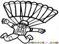 Dibujo De Paracaidista Libre Para Pintar Y Colorear