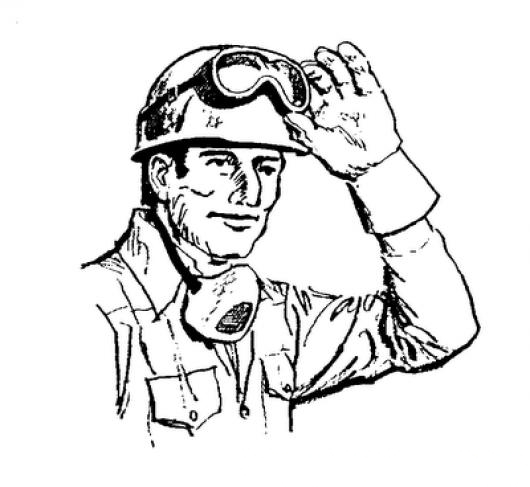 Equipo De Soldadura Dibujo De Soldador Con Casco Guantes