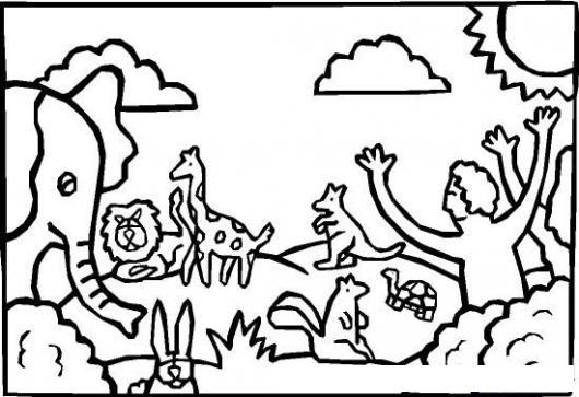 Ad n y eva animales colouring pages page 3 for Adan y eva en el jardin del eden