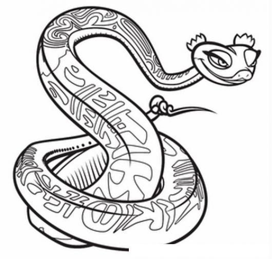 Culebra Mujer Dibujo De Serpiente Hembra Para Pintar Y Colorear ...